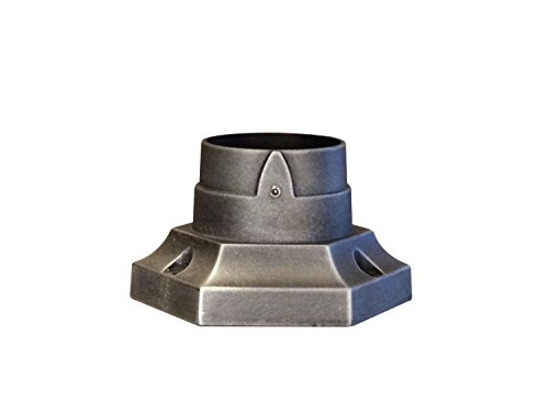 Special Lite Products Aluminum Stub Post Base in Black (Swedish Silver) by Special Lite Products
