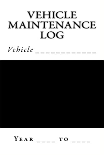 Vehicle Maintenance Log Black And White Cover S M Car Journals