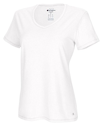 Champion Authentic Women's Jersey V-Neck Tee_White_M