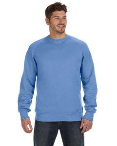 Hanes Mens Nano Premium Lightweight Crewneck Sweatshirt, Vintage Blue, Medium