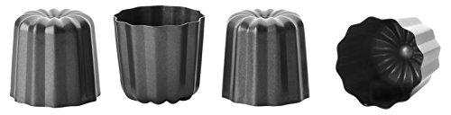 Ibili Canele Mould x 4 Bakeware Pans Black 6cm/2.5