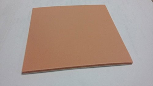 Steins Foam Square Pads, Adhesive - Peel Off, 1/8 Inch Thick, 6 X 6 Inch, Orange, 765-0060-3660 (Pack of 100)