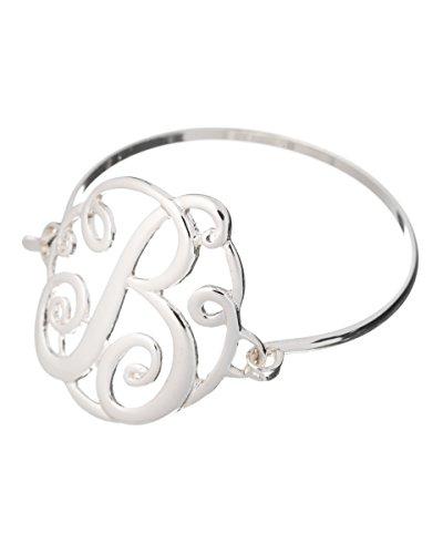 Jewelry Nexus Initial B MONOGRAM Designer Silver-tone Filigree Wire ()