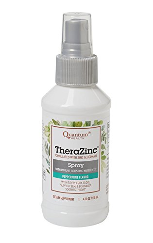 (Quantum Health TheraZinc Oral Spray, Immune Support and Throat Relief in a Soothing Spray, 4 Oz.)