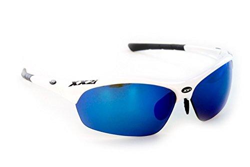 XX2i Optics Men's FRANCE1 Sunglasses Polarized Grey Tinted Lens White - Xx2i Sunglasses