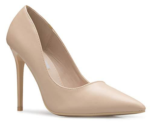 - OLIVIA K Women's Classic D'Orsay Closed Toe High Heel Pump - Casual Comfortable