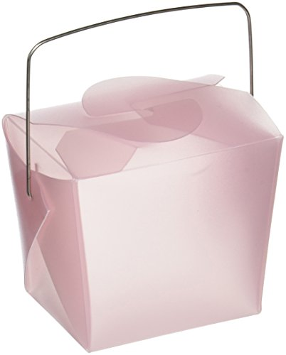 Oasis Supply Frosted Chinese Take-out Boxes Containers for Party Favor Boxes, 1/2-Pint, Pink, 36-Pack Frosted Take Out Boxes