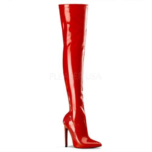 nbsp;stivali nbsp;3000 Pleaser nbsp;– nbsp;– Sexy Donna StrPat Red CxdBeo