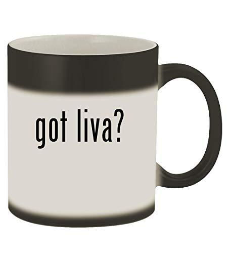 - got liva? - 11oz Magic Color Changing Mug, Matte Black
