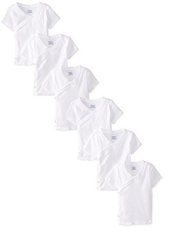 (Gerber Unisex-Baby Newborn 6 Pack Short Sleeve Side Snap Shirt, White , 0-3 Months )