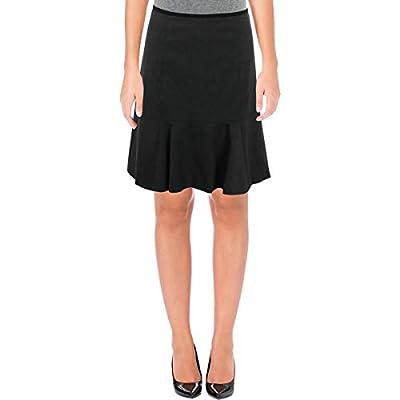 Calvin Klein Womens Petites Knee-Length Casual Flounce Skirt