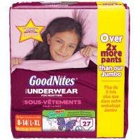 GoodNite Bedtime Underwear Girls L -XL (27 count)