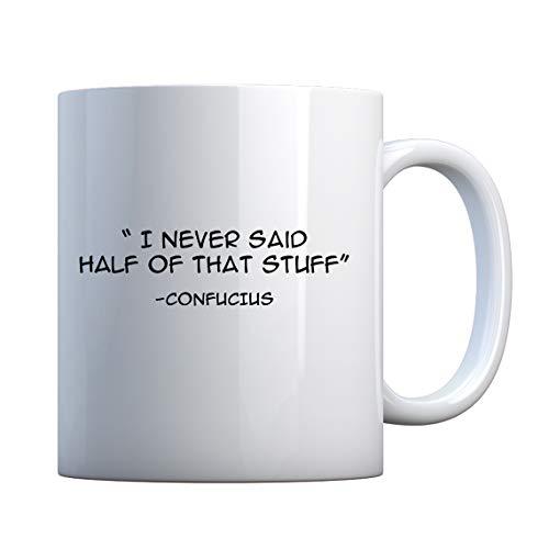 - Mug Confucius say 11oz Pearl White Gift Mug