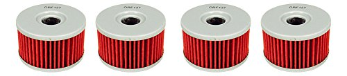 Outlaw Racing ORF137 Lot of 4 Performance Oil Filter SUZUKI Motorcycles DR650SES LS650 SAVAGE Replaces KN137