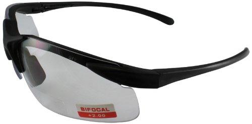 No Frame Safety Glasses : Global Vision Apex Bifocal Safety Glasses (Black Frame ...