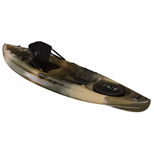 Scubapro Ocean Kayak Caper Angler One-Person Sit-On-Top Fishing Kayak, Brown Camo, 11 Feet