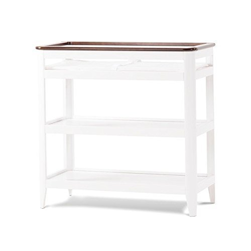 Child Craft Studio Dressing Table, white/brown finish (Expresso Portable Crib compare prices)