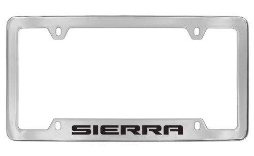 Gmc Sierra Chrome Plated Metal Bottom Engraved License Plate Frame Holder