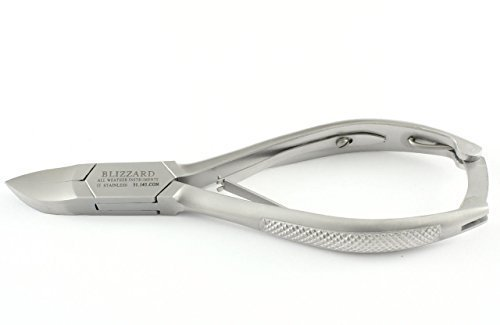 Nail Clippers by BLIZZARD® - General Purpose Toenail Clipper for Thick Nails 5.5 - GERMAN Concave Nail Cutter Nipper for Heavy Duty Podiatry Use – Chequered Handled with FREE Foot File