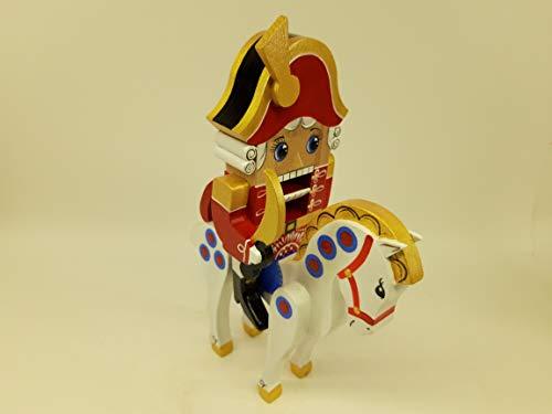 Nutcracker dolls on horse 10'' tall, Shchelkunchik Woodcarved Handpainted Russian doll