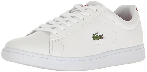 Lacoste+Men%27s+Carnaby+Evo+S216+2+Casual+Shoe+Fashion+Sneaker%2C+White%2FRed%2C+13+M+US