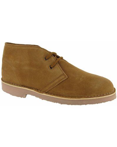 Cotswold Mens Sahara Suede Leather Casual Supported Heel Desert Boots Taupe