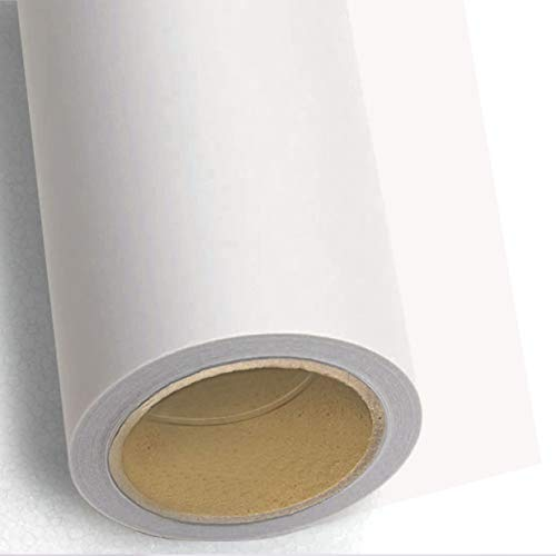 Huamei Seamless Photography Background Paper, Photo Backdrop Paper 8.9 x 36 Feet / 2.72 x 11 Meters, 93 Arctic White (272193)