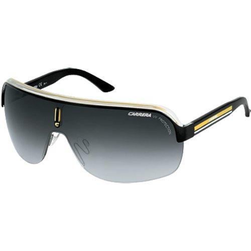 Carrera Topcar 1/S Men's Race Wear Sunglasses/Eyewear - Black Crystal Yellow/Gray Gradient / Size - Vintage Sunglasses Carrera