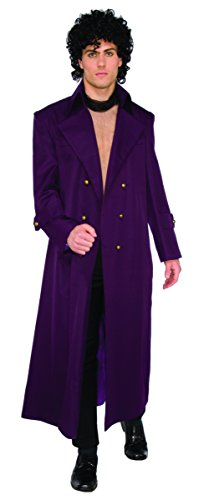 Forum Men's Rock Royalty Deluxe Long Coat, Purple, (Halloween Costumes From The 1980s)