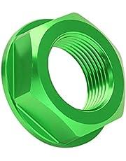 Porca do eixo da roda de motocicleta, porca do eixo da roda traseira durável para reparo (verde)