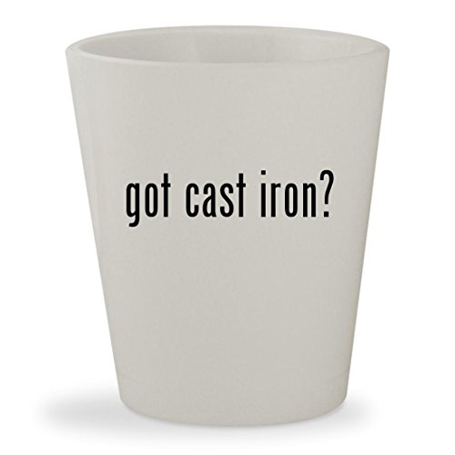 got cast iron? - White Ceramic 1.5oz Shot Glass