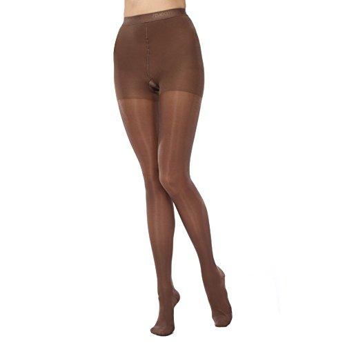 (KoolFree Women Medical Grade Graduated Compression Sheer Stockings Pantyhose, Nurse Socks, Closed Toe, 23-32mmHg (5 Color Options) (XL, coffee))
