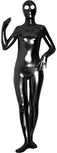 - 31iaM6mzfQL - VSVO Shiny Metallic Unitard Zentai Suit with Eyes Open