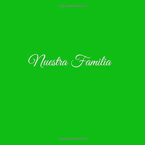 Amazon.com: Nuestra Familia .....: Libro de recuerdos Libro De Visitas para Reunión Fiesta familiar Eventos familiares ideas regalos decoracion accesorios ...