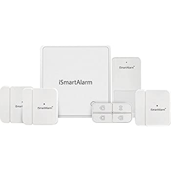 iSmartAlarm iSA8 Wireless Smart Home Security System for Homes with More Doors or Windows