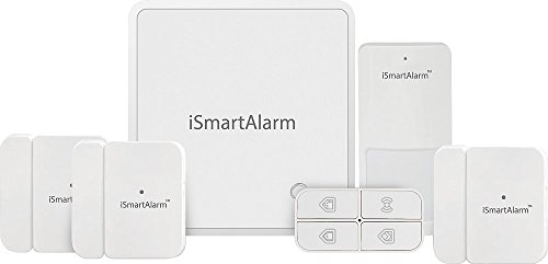 iSmartAlarm Home Security Package For More Doors & Windows | Wireless DIY No Fee IFTTT & Alexa Compatible iOS & Android App | iSA8, White