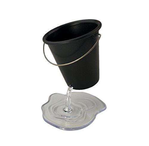 AITING Creative Pencil Holder, Design Floating Bucket Pen Case Container Desk Accessory Desk Bucket (Black)