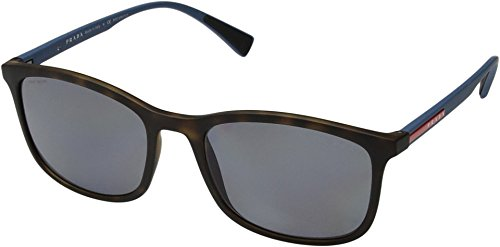 Prada Linea Rossa  Men's 0PS 01TS Havana Rubber/Polarized Grey One - Rossa Prada Polarized Linea