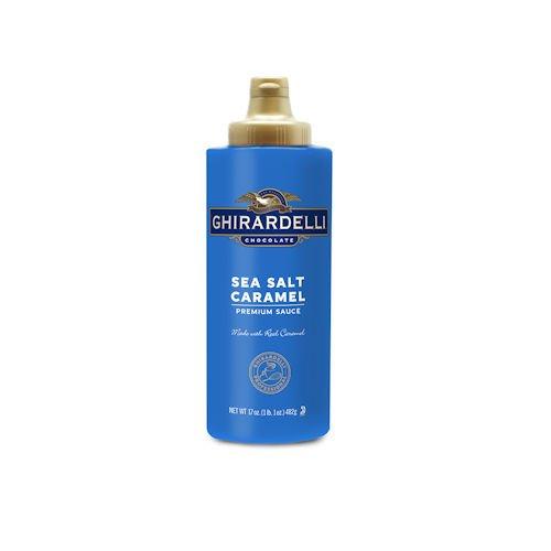 Ghirardelli Sea Salt Caramel Sauce, 17 oz Squeeze Bottle
