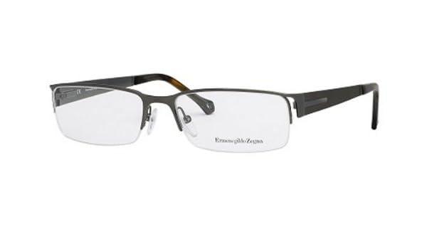 11d87f28867c Amazon.com: Ermenegildo Zegna VZ 3313 Eyeglasses Color 0584 Shiny Gunmetal  56mm: Clothing