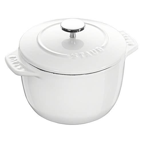 Staub Cast Iron 1.5-qt Petite French Oven - Matte White