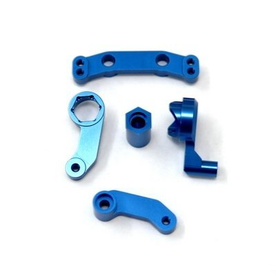 ST Racing Concepts STC9659B Aluminum Steering Bellcrank Set for The Team Associated SC10, B4 and T4 (Blue)