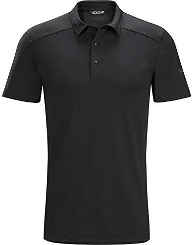 Arc'teryx Men's Chilco Short Sleeve Polo, Black, XS
