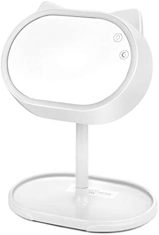 GCX- LEDメークアップミラーランプ付メイクアップミラー充電式ライト折り畳み式ドミトリーミラー ファッション (Color