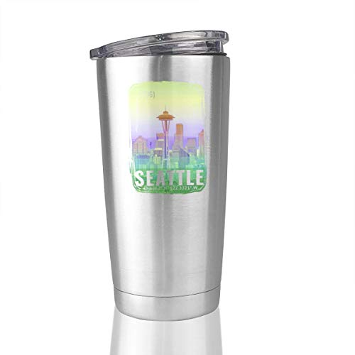 City Of Seattle 20 Oz Stainless Steel Vacuum Insulated Tumbler Travel Mug Novelty Gifts]()