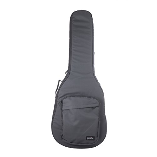 Semi-Hollow Body Electric Guitar Case Charcoal Gray by Phitz