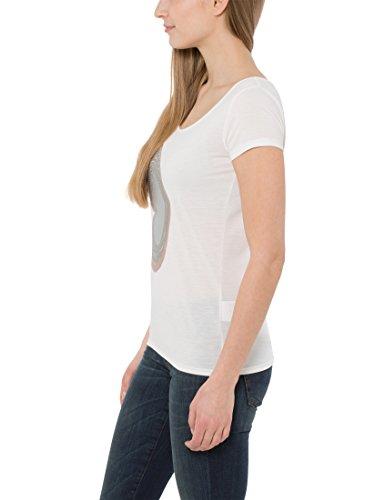 Berydale Camiseta de manga corta de mujer, mariposa tipo lentejuela Weiß Weiß