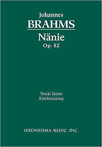 Vocal Score 82 N/änie Op