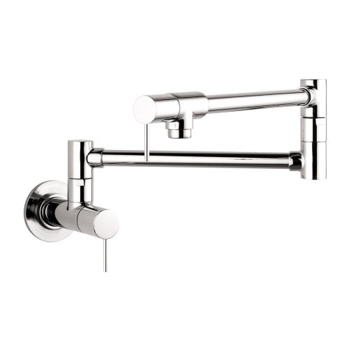 Hansgrohe 10859001 Starck Wall-Mounted Pot Filler, Chrome