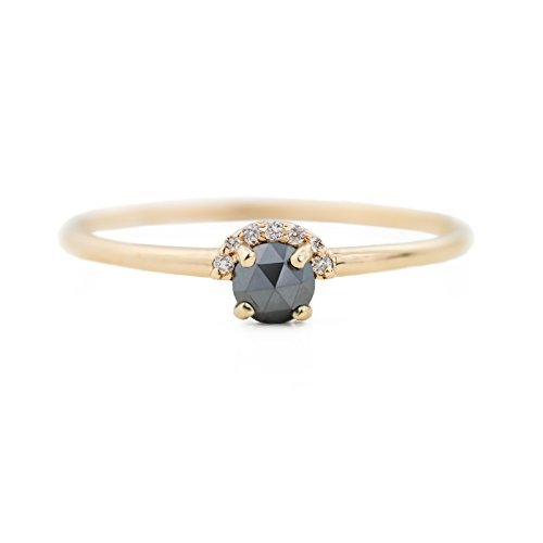 ROSE CUT BLACK DIAMOND RING ()